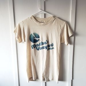 Vintage Martha's Vineyard Mass Soft Tee Shirt S